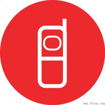 red_background_phone_icon_vector_280687